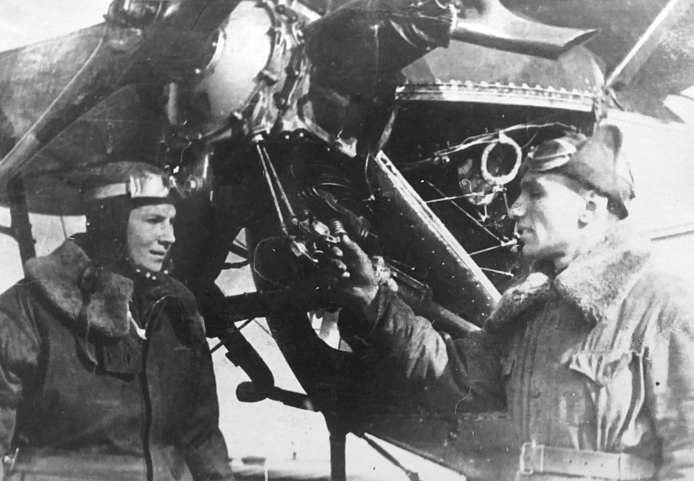 Lilya with Mechanic Semyon Nizin, Stalingrad