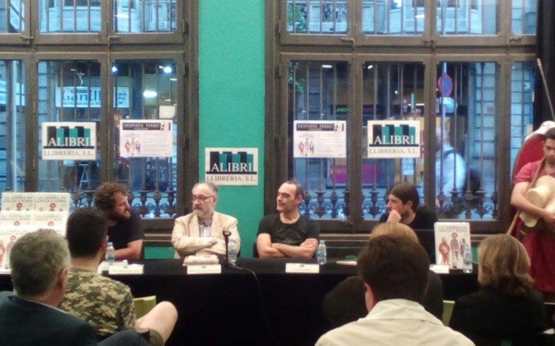 Presentación de La guerra en Grecia y Roma, con el profesor Francisco Gracia Alonso, en la librería Alibri