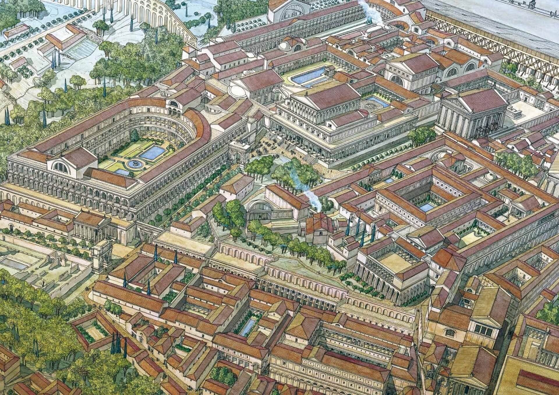 Palacios imperiales Roma Jean-Claude Golvin