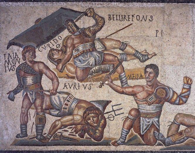 gladiadores entrenamiento