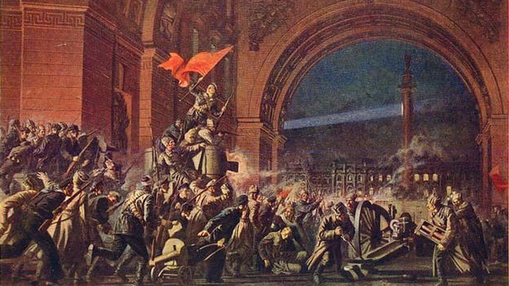 Guardia Roja asalto al palacio de invierno