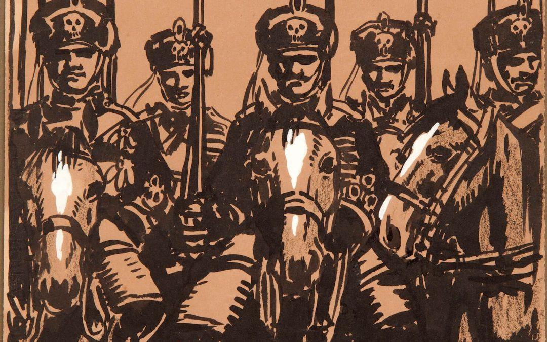 Llorenç Brunet, dibujos de guerra