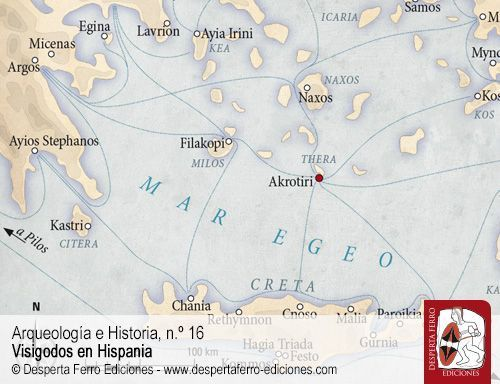 influencia minoica en Akrotiri (Thera)