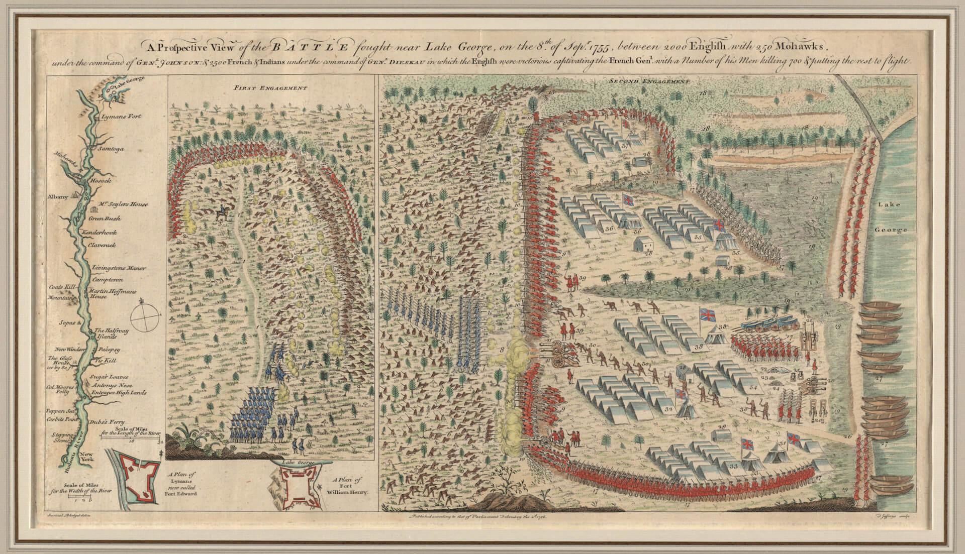 Batalla lago George el último mohicano