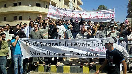 Manifestantes, Los comités de organización en la Guerra civil siria