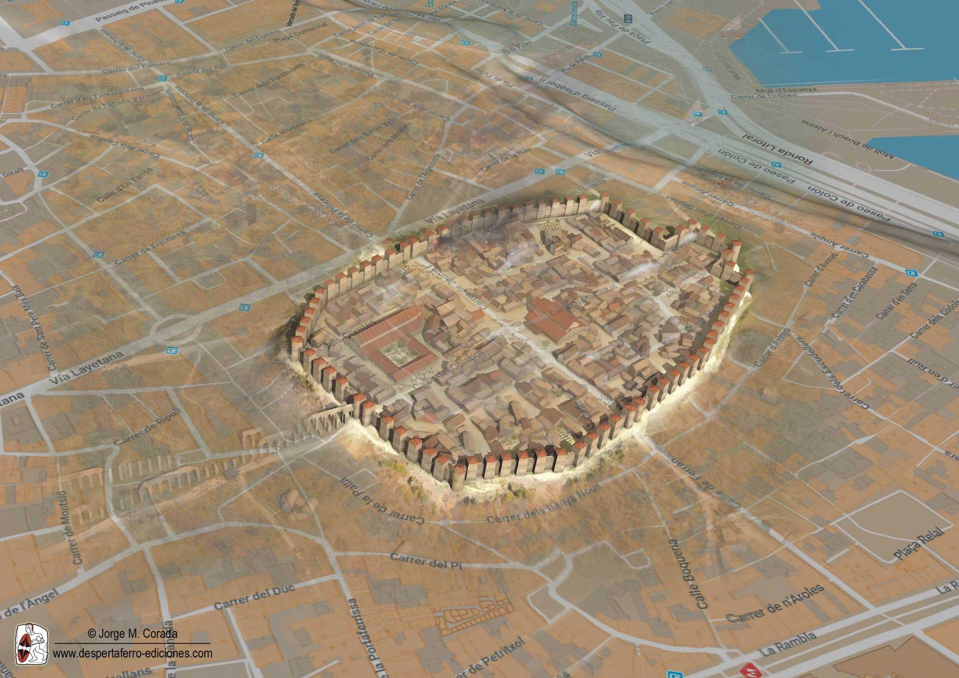 Barcelona medieval siglo X Almanzor