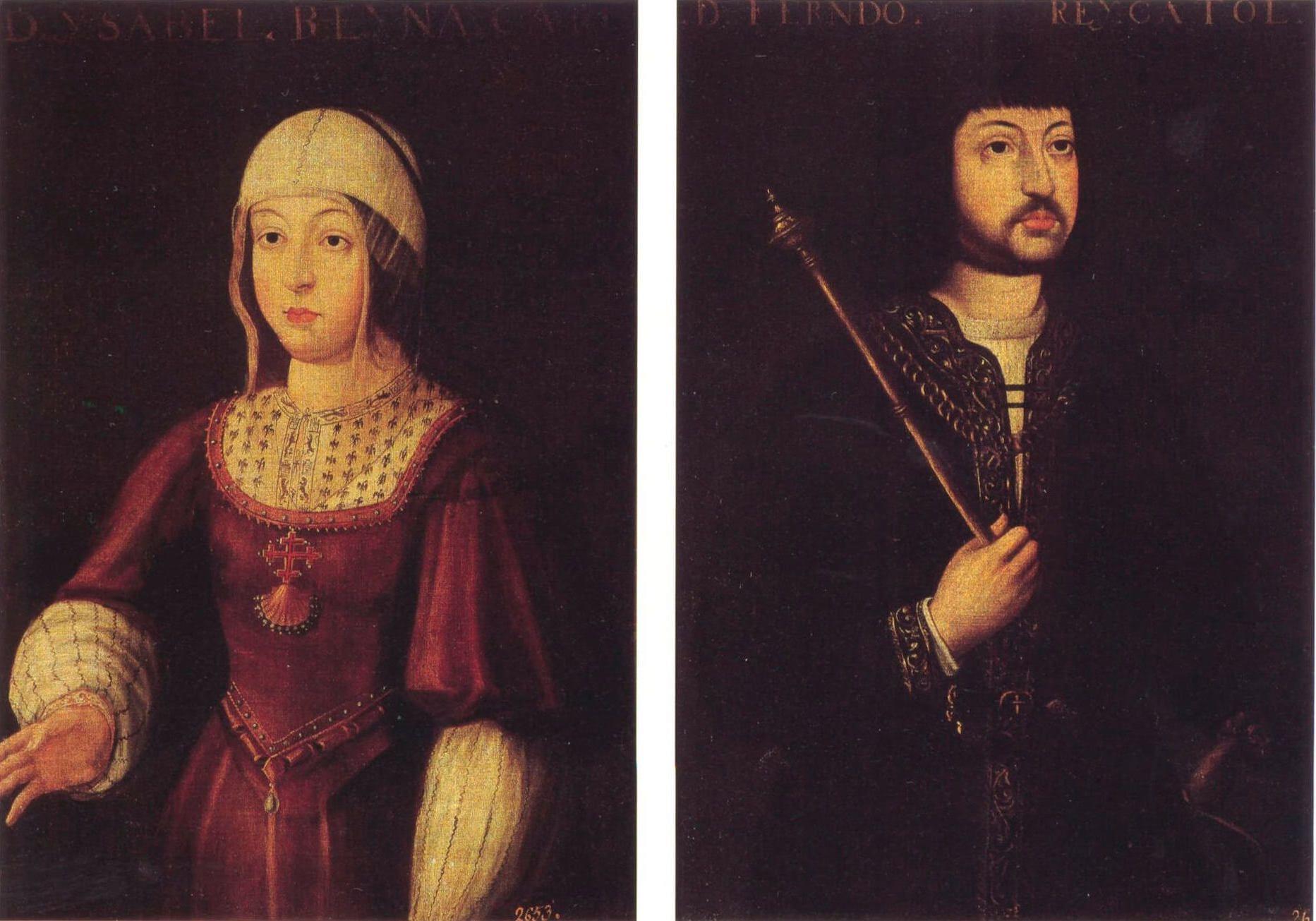 Isabel y Fernando reyes Católicos Descubrimiento América Colón