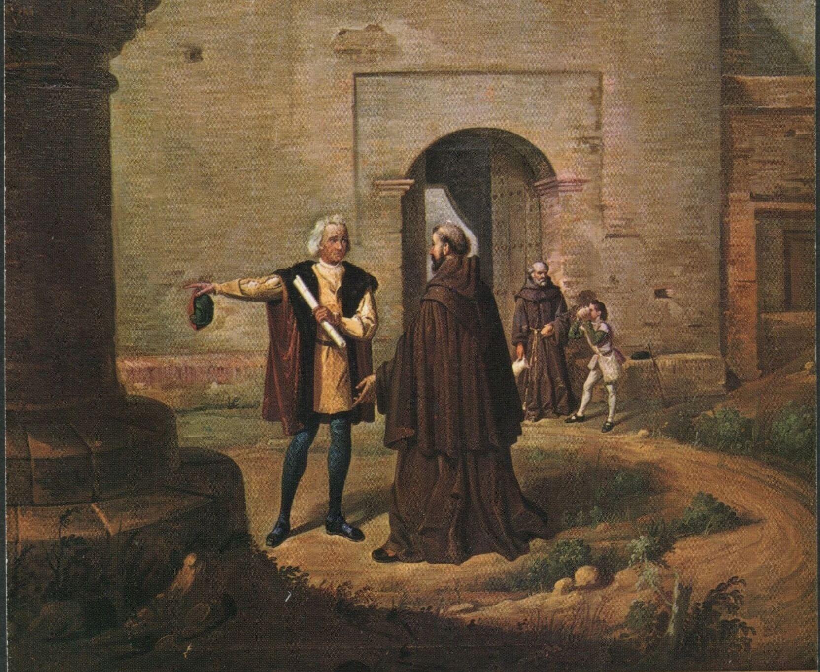 Cristóbal Colón, Fray Juan Pérez y la Rábida