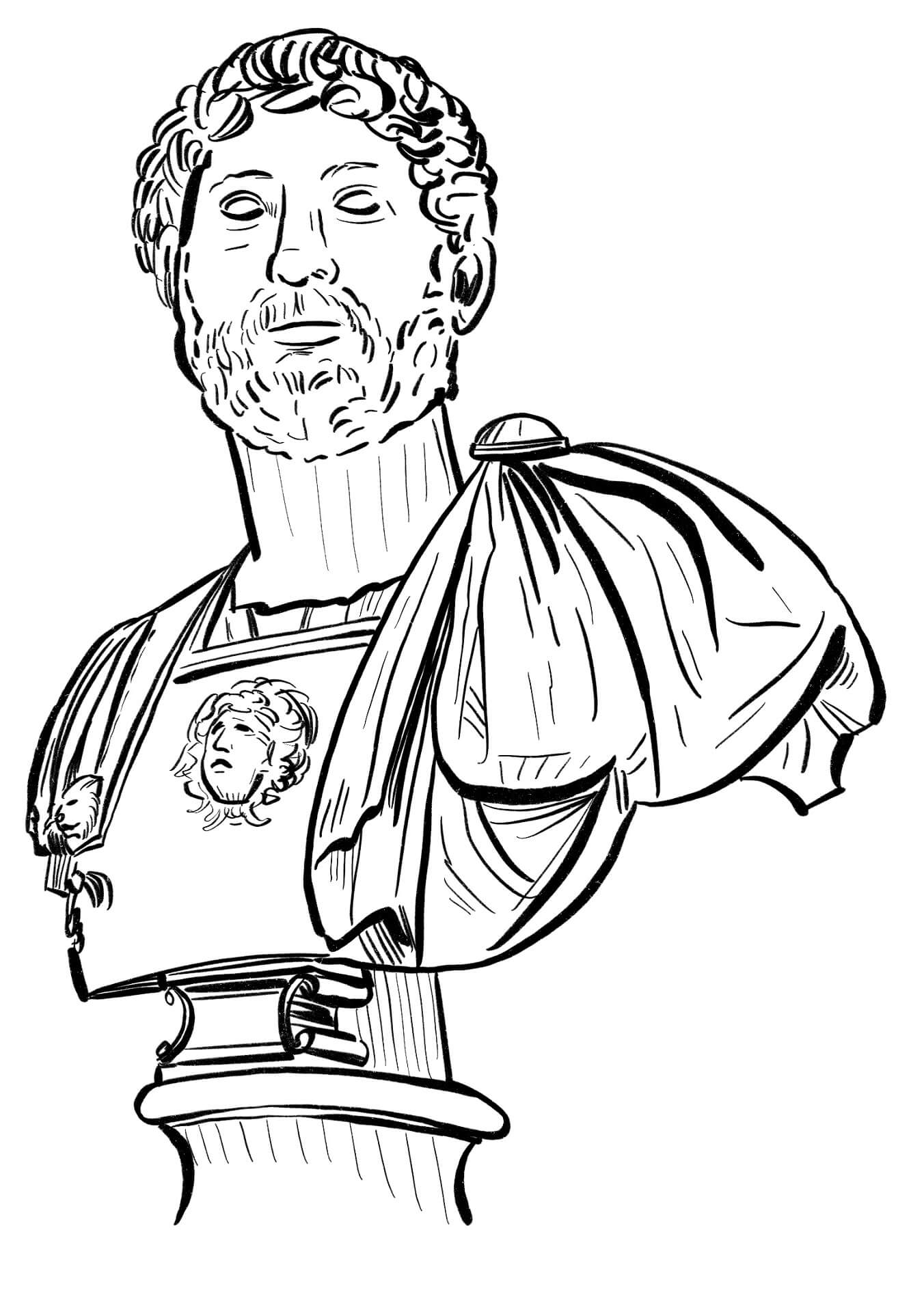 Marco Aurelio (lámina coloreable)
