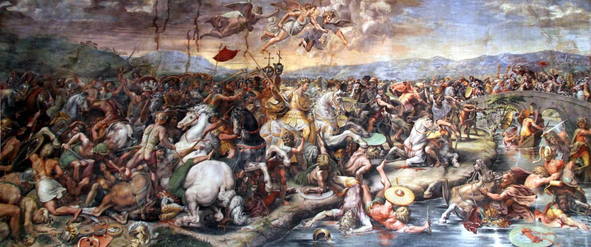 batalla del puente Milvio Constantino cristianismo ejército romano