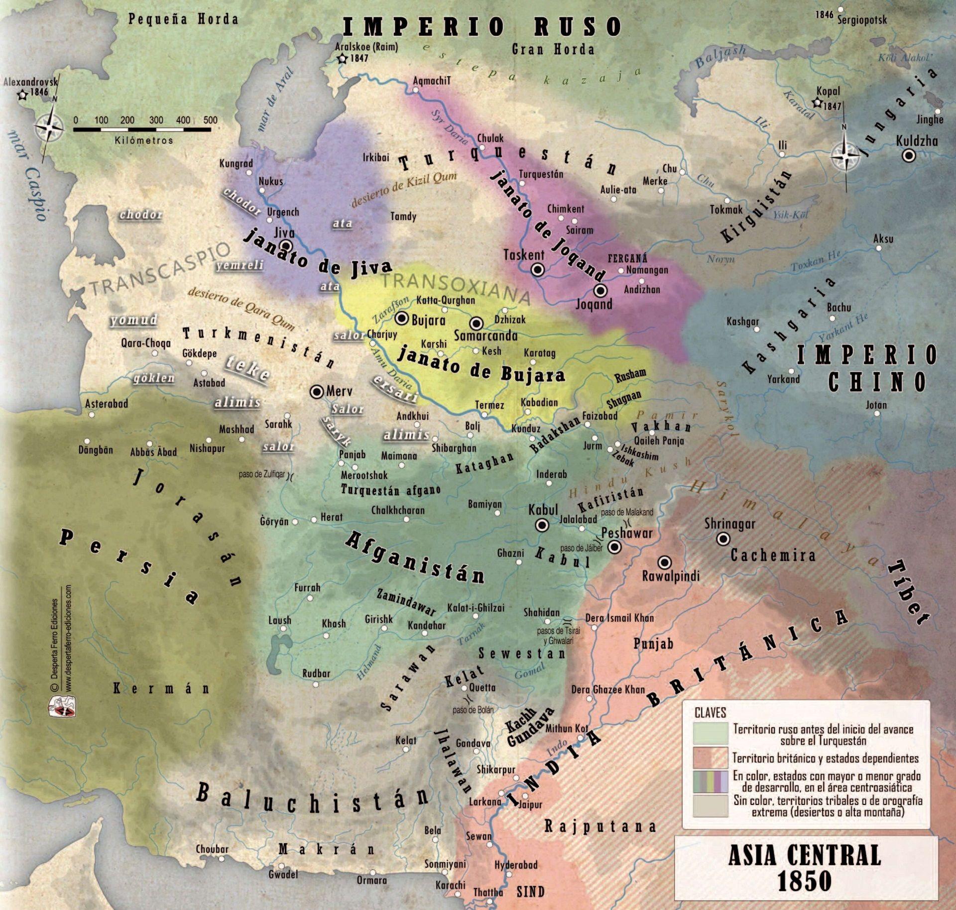 janatos de Asia Central