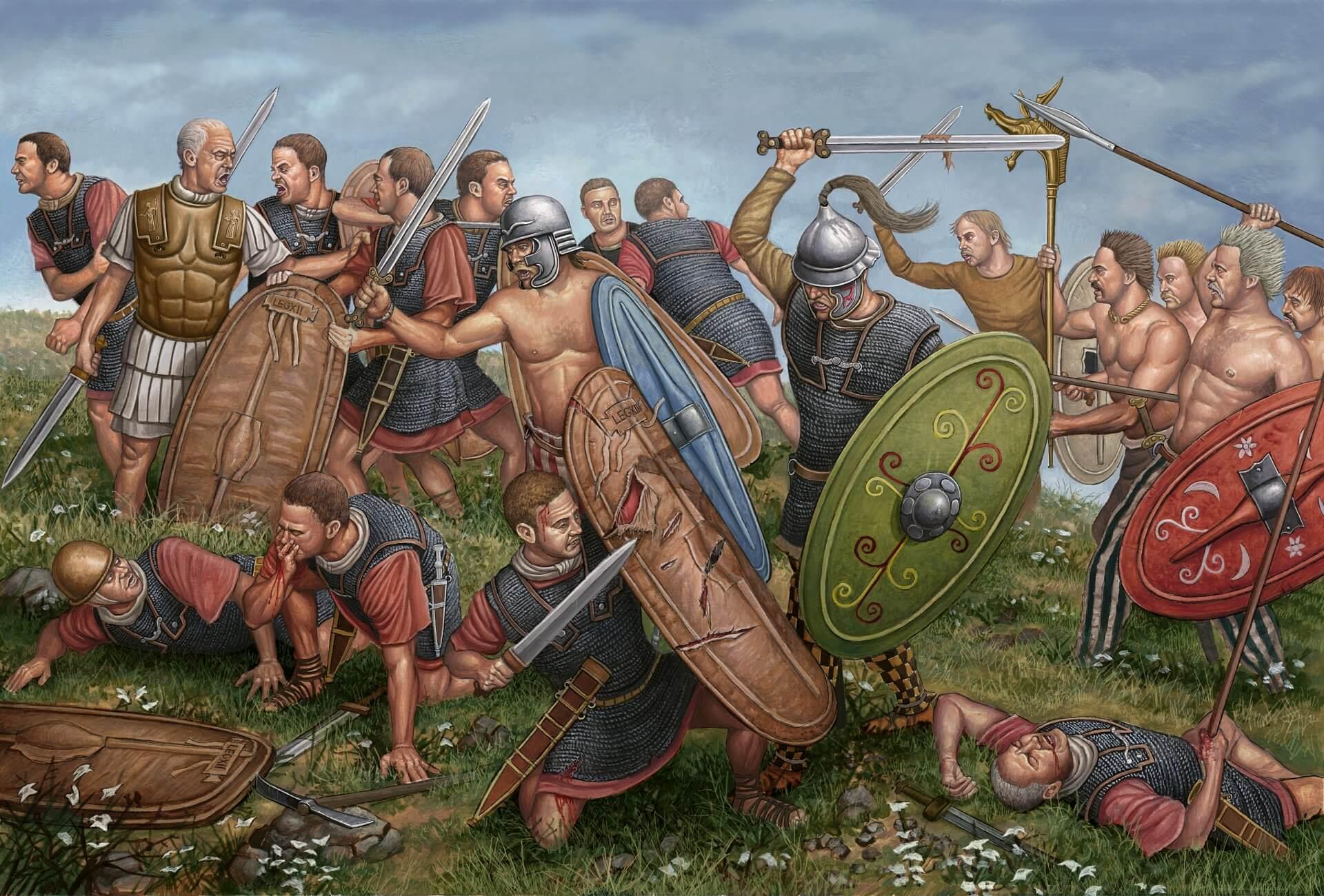 La campaña de César contra los belgas
