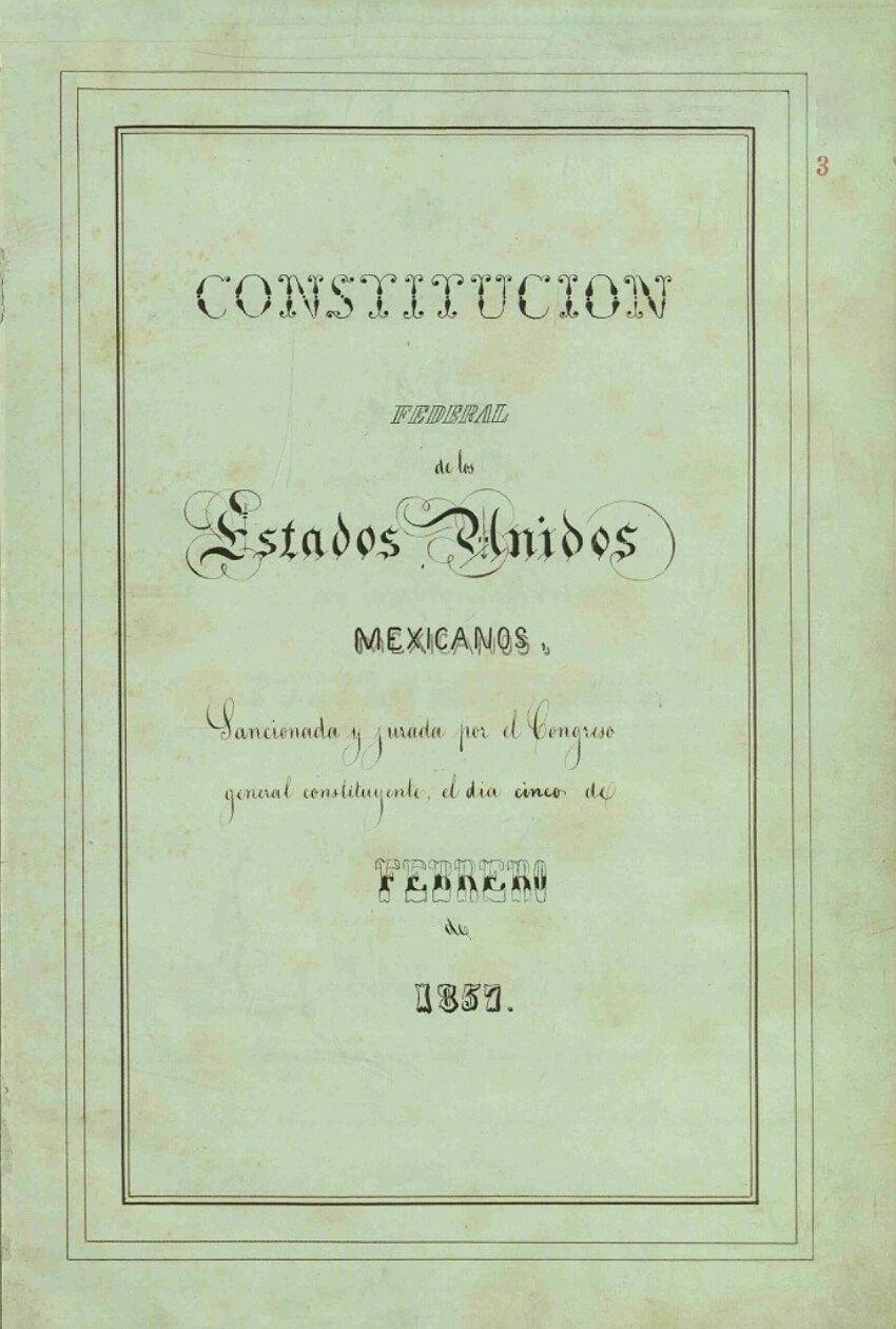 Constitución de los Estados Unidos Mexicanos de 1857