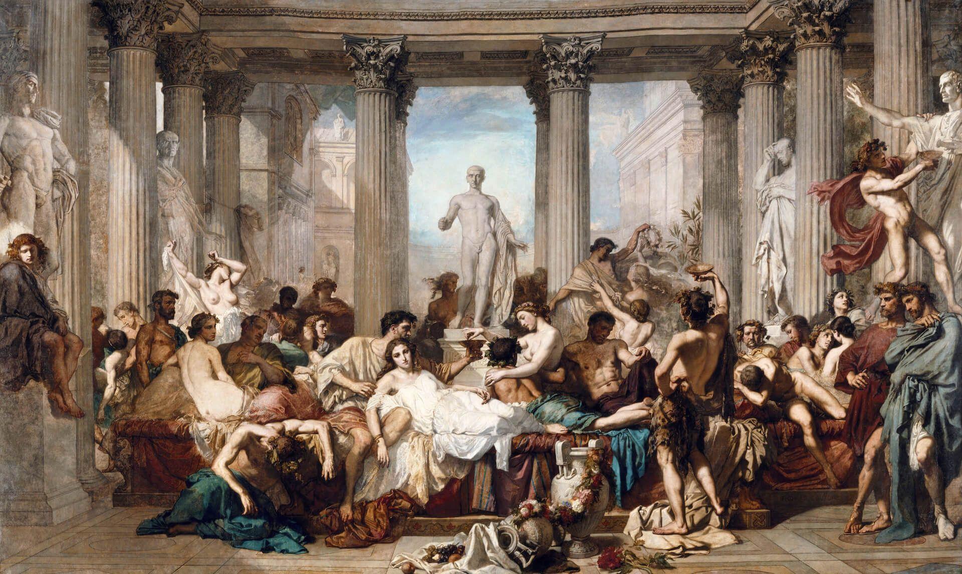 Romanos en la decadencia couture sexo en roma