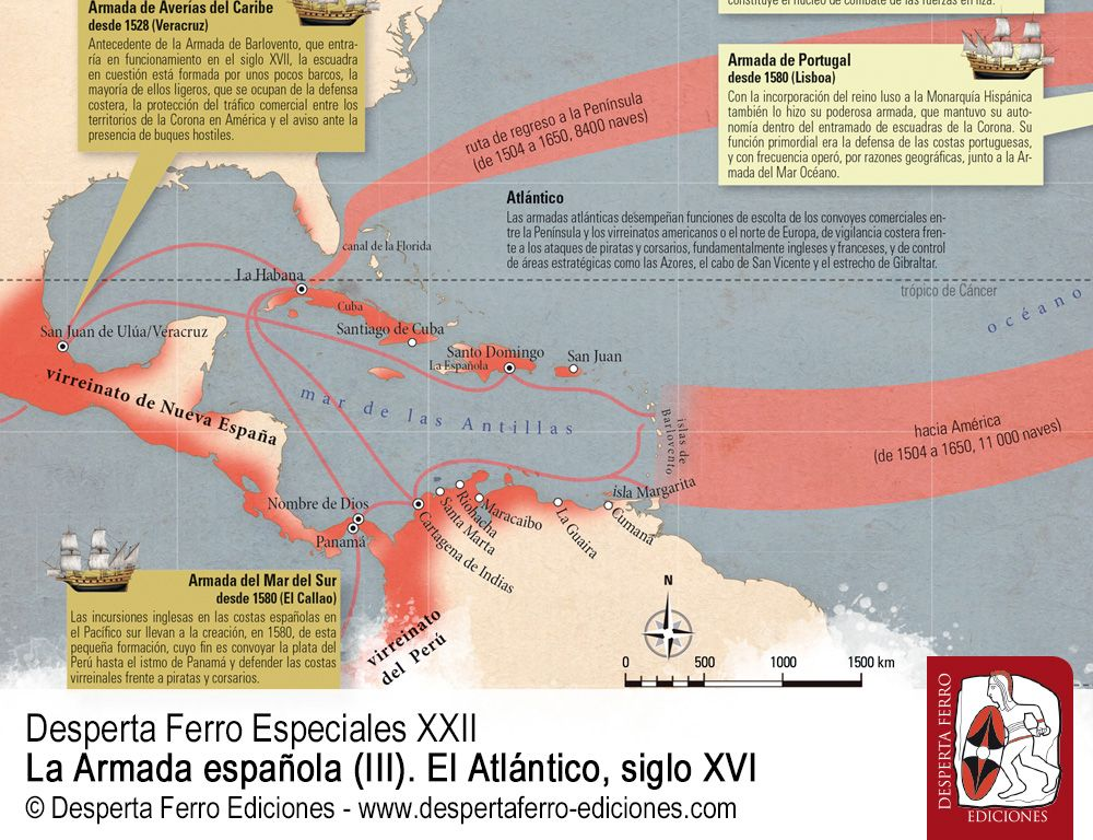 Un océano hispánico. Las armadas y flotas de la Corona por Esteban Mira Caballos – Universidad de Sevilla