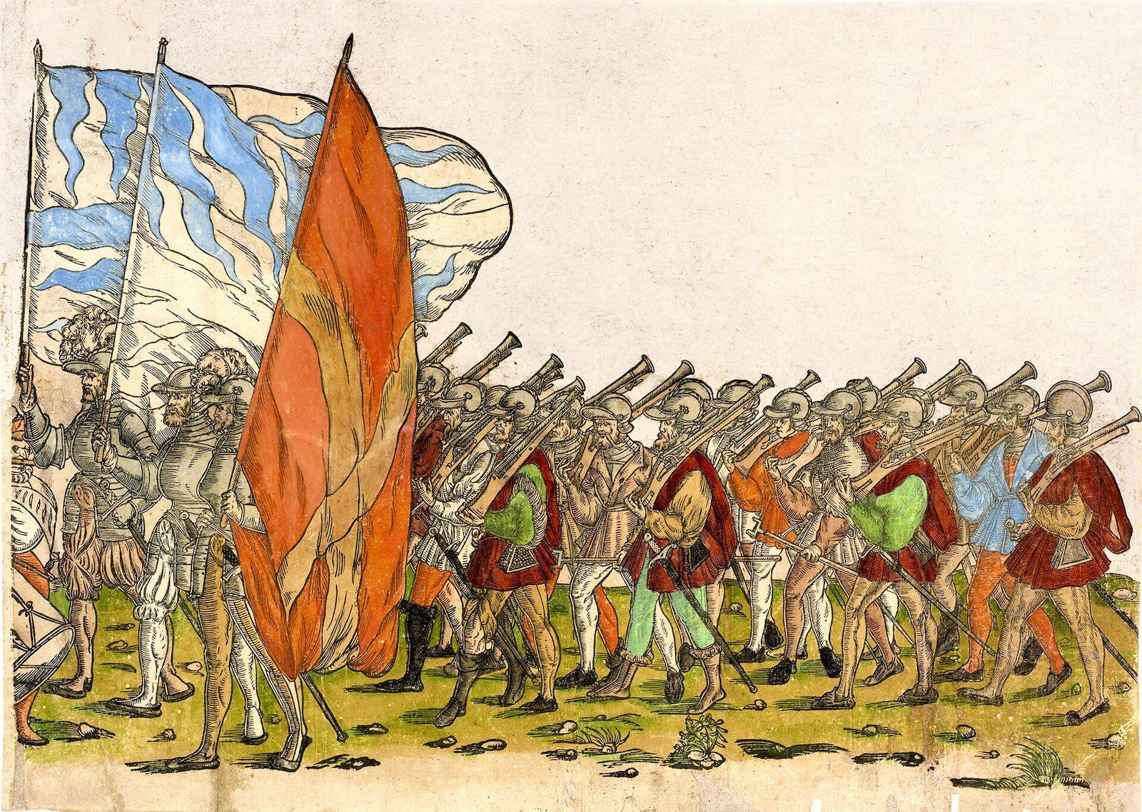 arcabuceros españoles batalla de Bicocca 1522