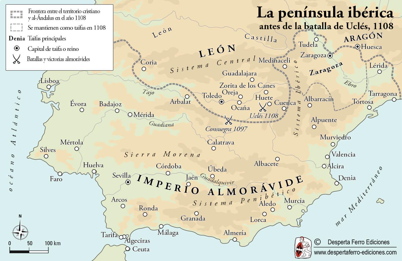 España del cid mapa 1108 Álvar Fáñez