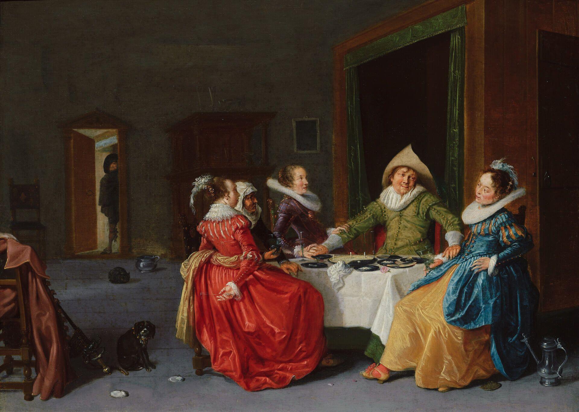 Alegre compañía en un burdel Hendrik Gerritsz Pot Flandes
