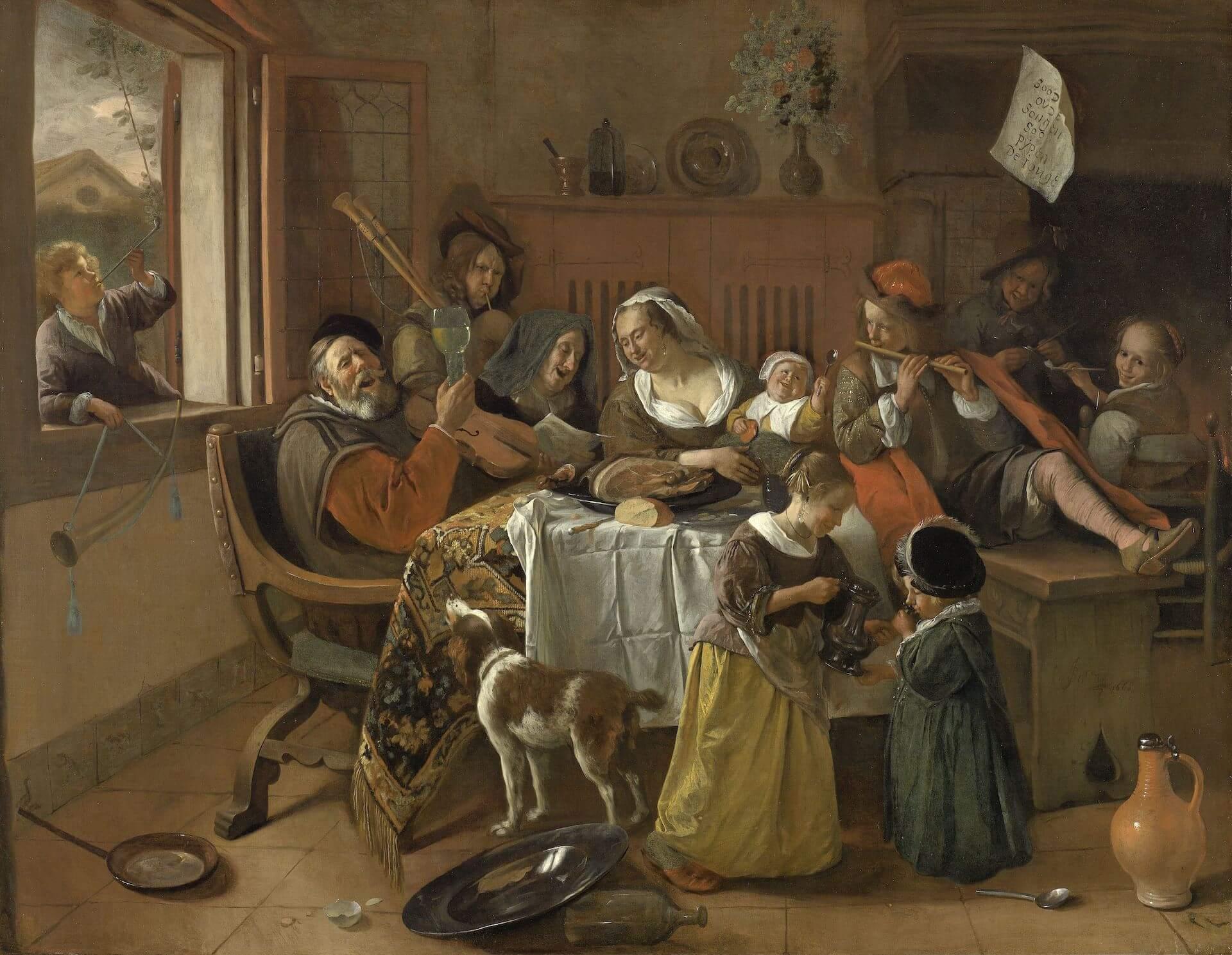 La familia alegre Jan Steen Flandes