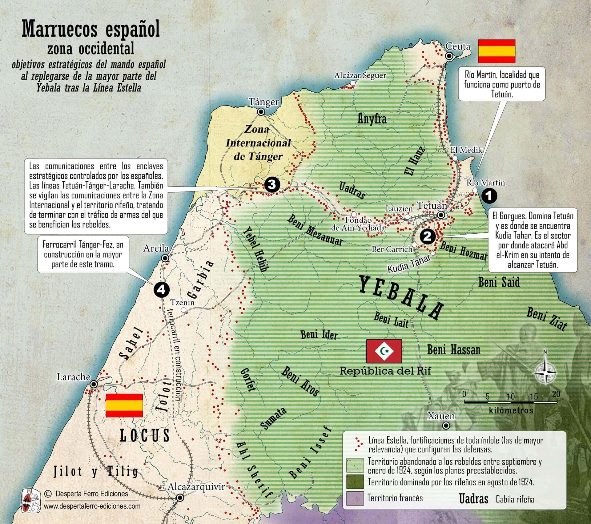 Mapa Marruecos español