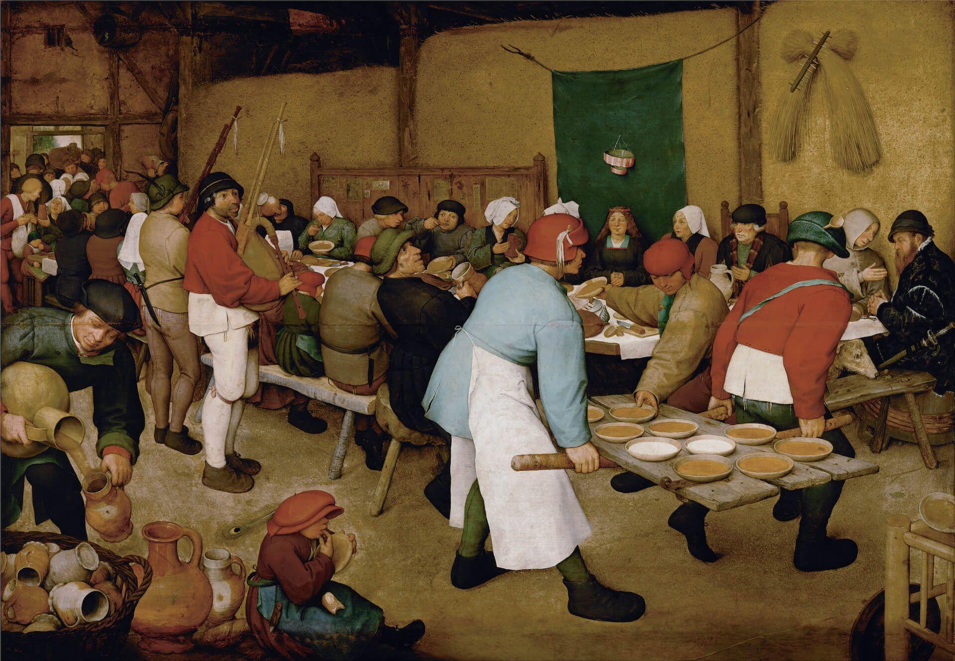 La boda campesina Pieter Brueghel el Viejo Flandes
