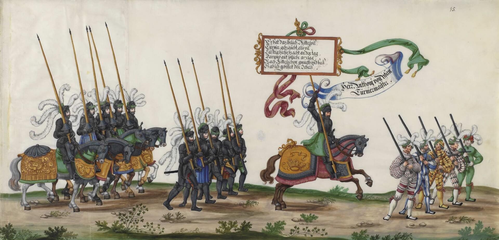 El triunfo del emperador Maximiliano I lansquenetes