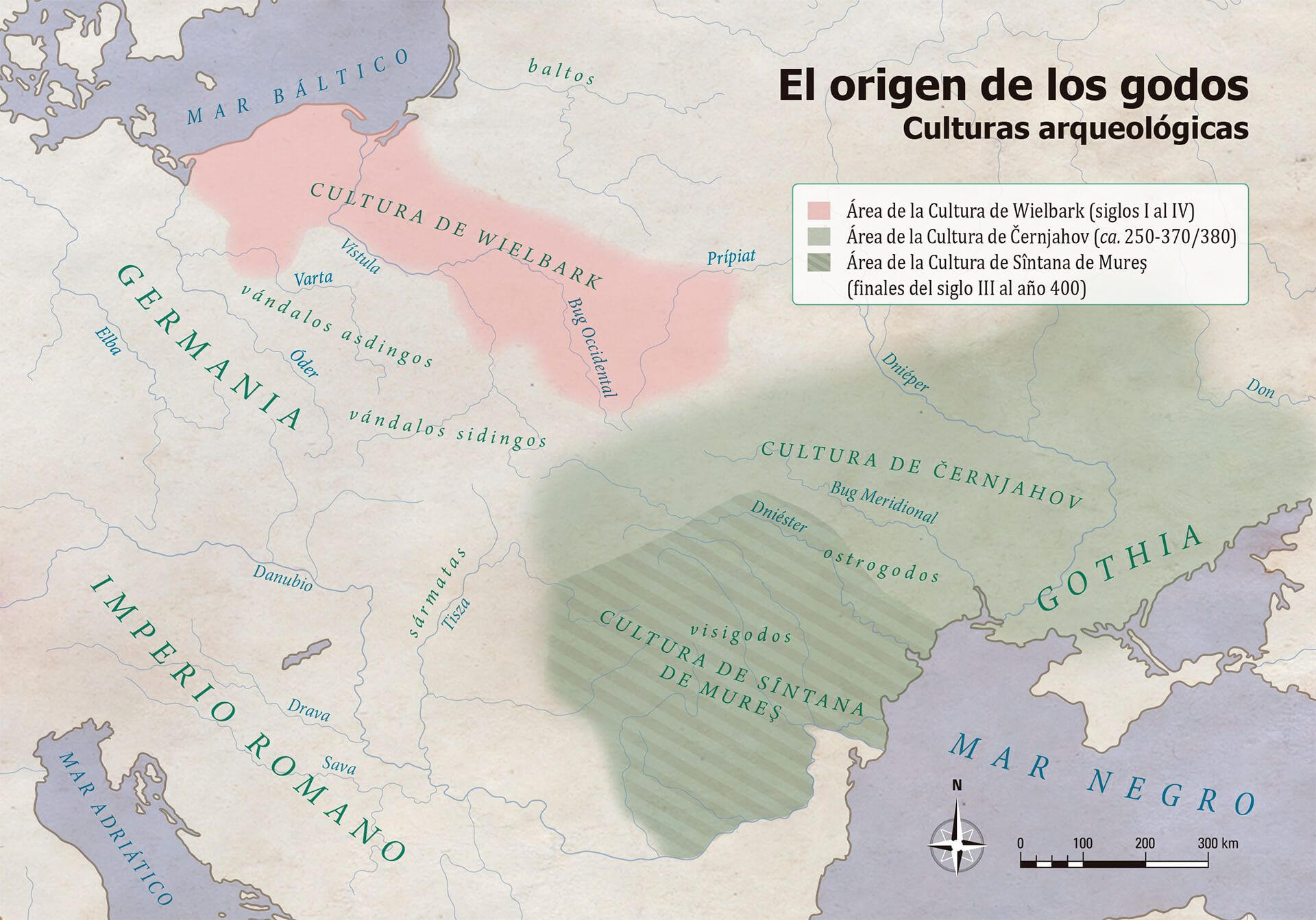 Mapa origen de los visigodos