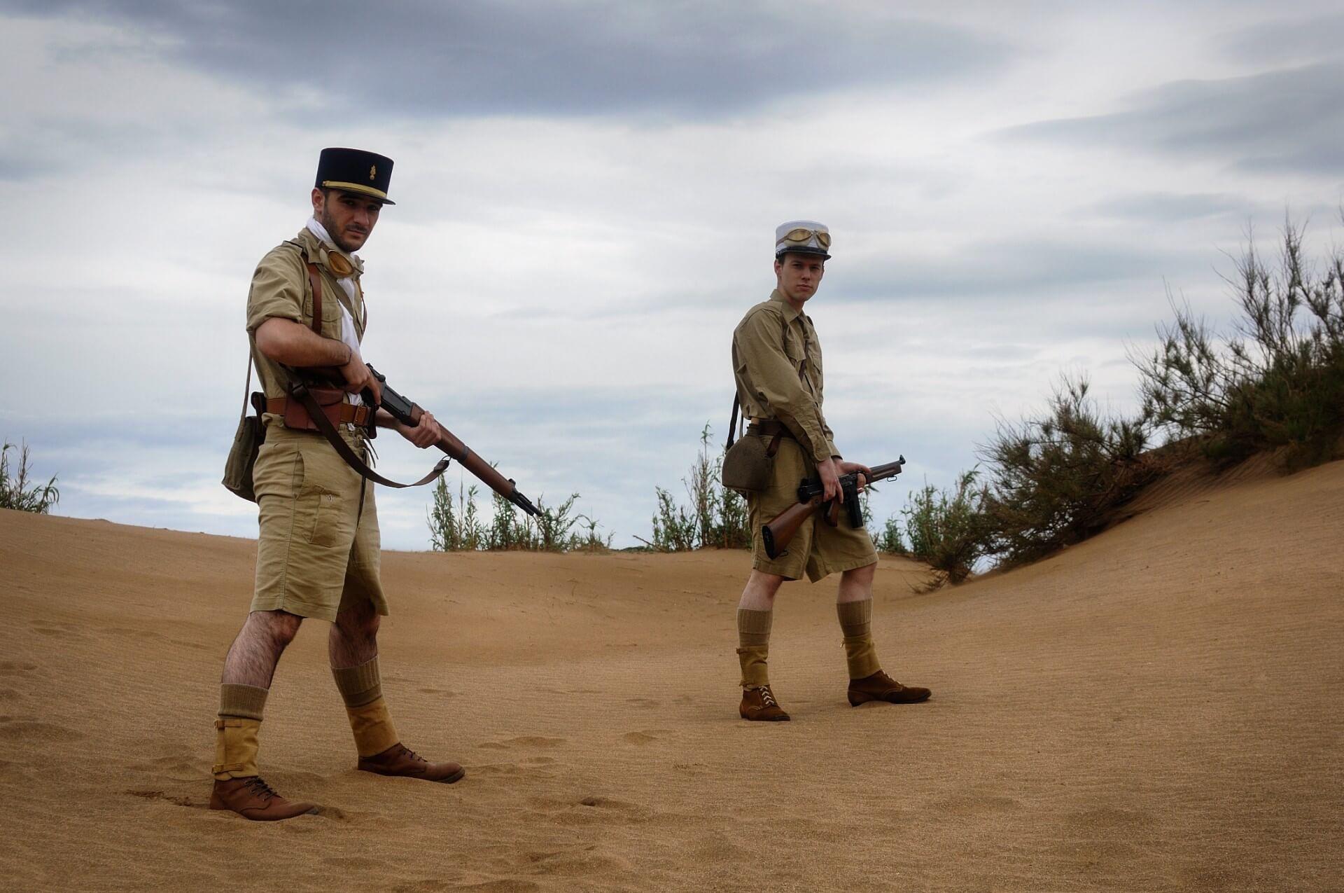 13e demi brigade de Légion étrangère en Bir Hakeim