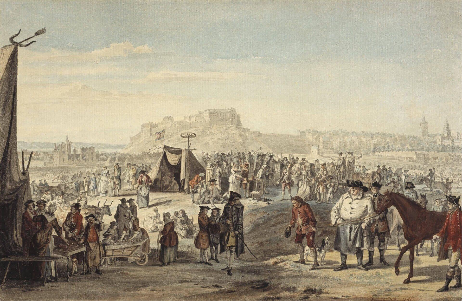 jacobitismo nacionalismo escocés Feria de caballos en Bruntsfield, Edimburgo