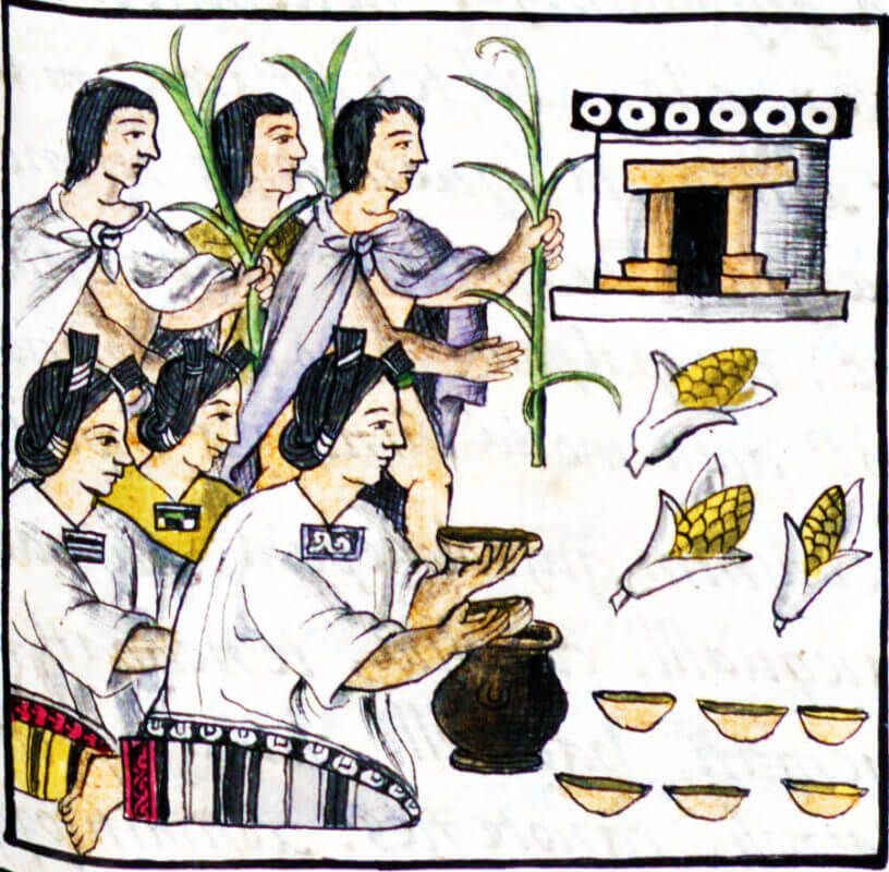 tortitas de maiz aztecas