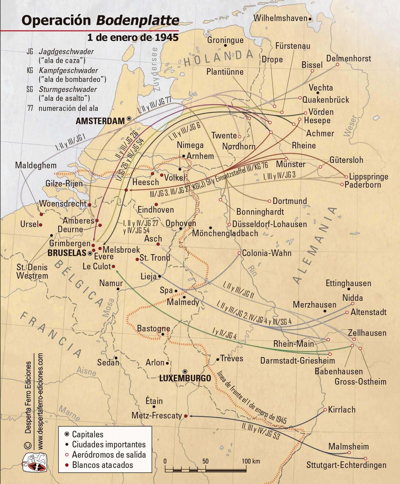 Operación Bodenplatte, 1 de enero de 1945 Ardenas Luftwaffe