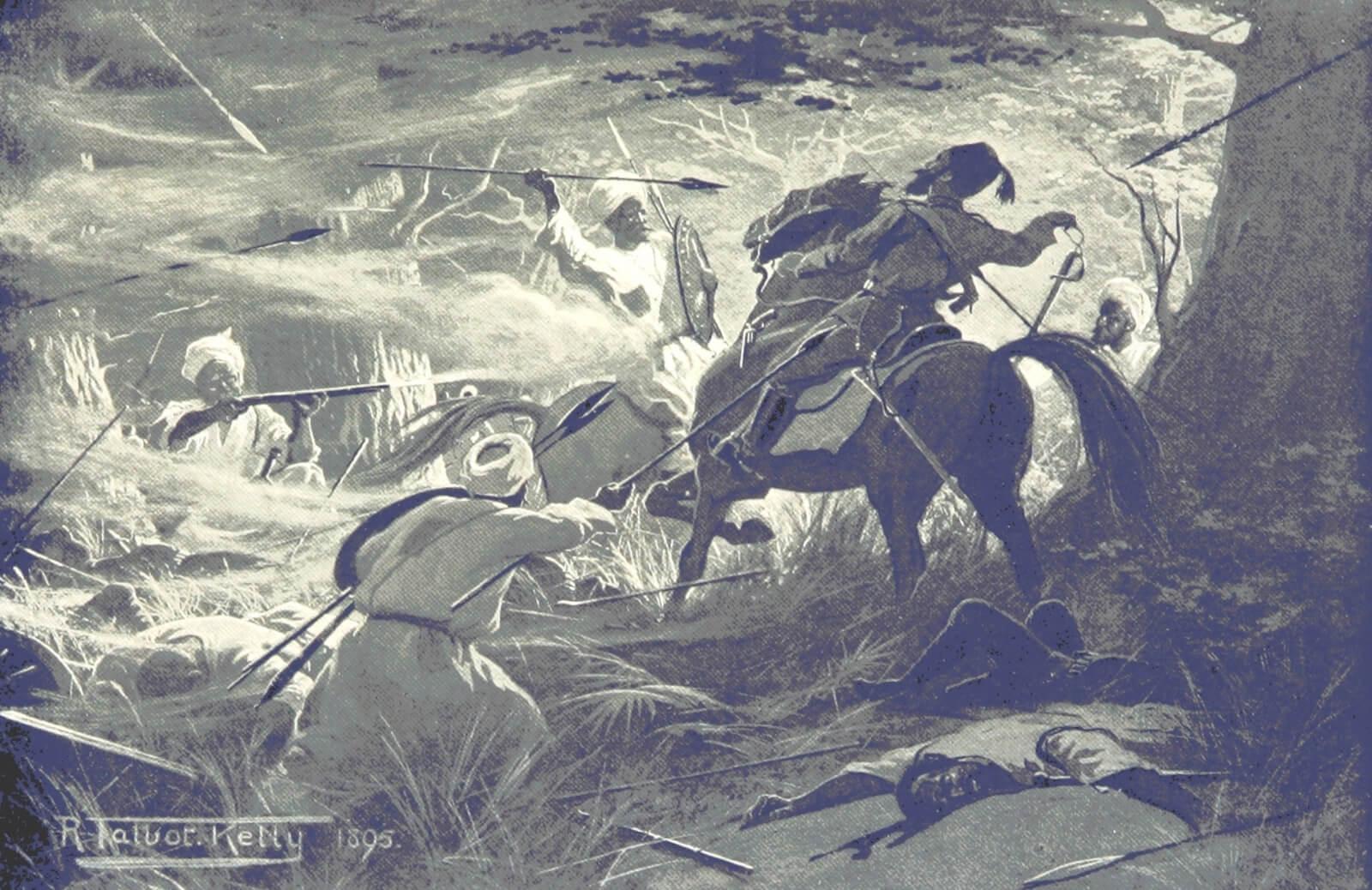 muerte de Hicks Pachá en la batalla de Shaykan