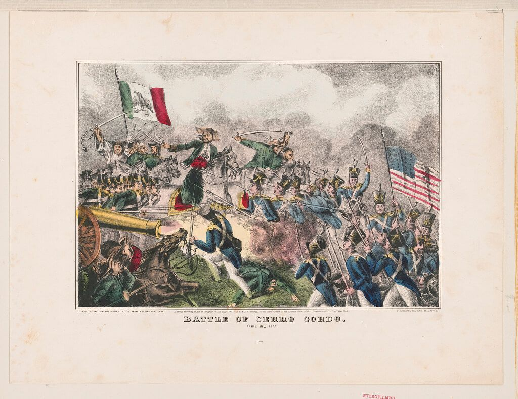 batalla de Cerro Gordo Guerra México Estados Unidos