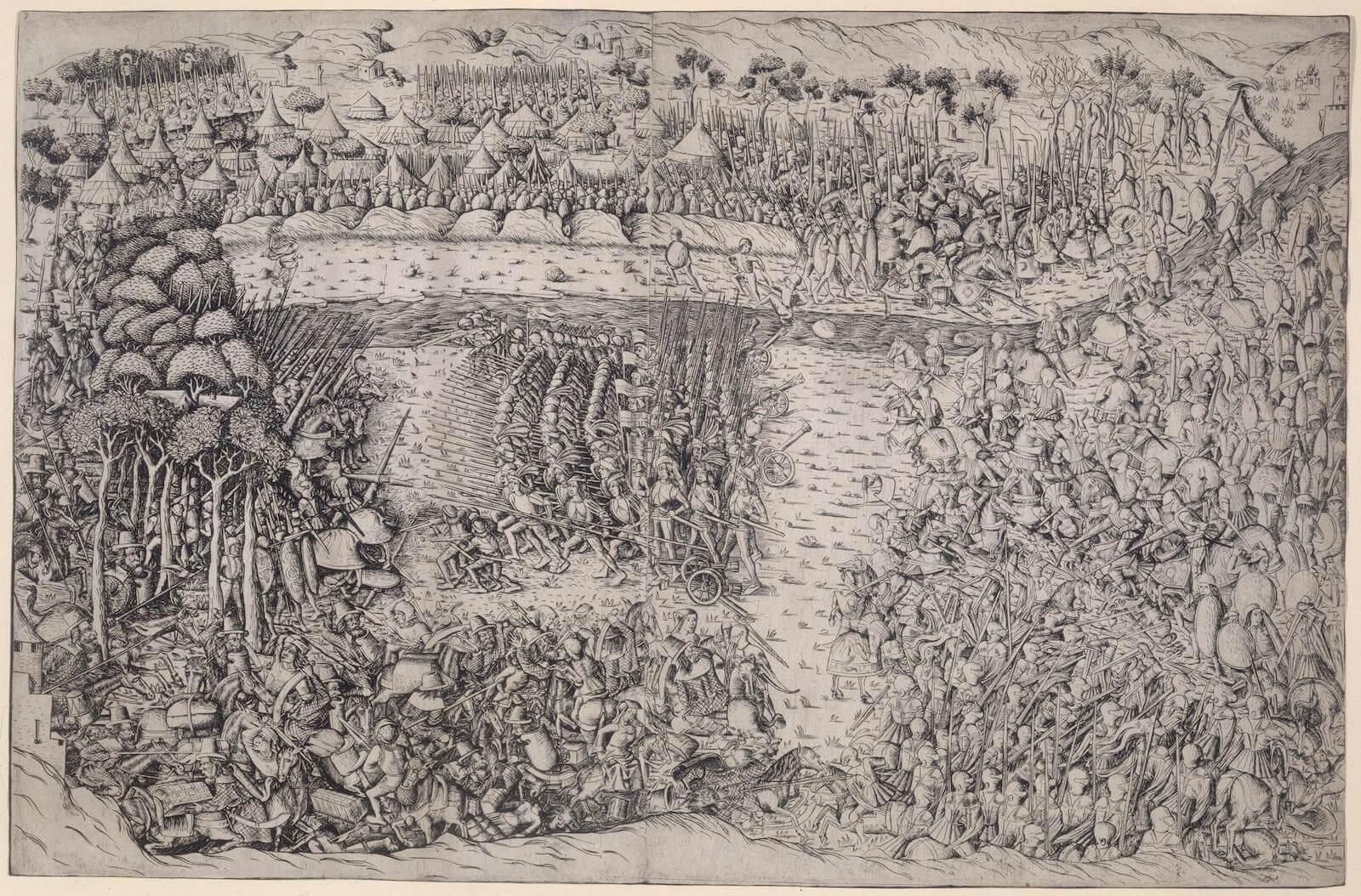 La batalla de Fornovo choque de picas