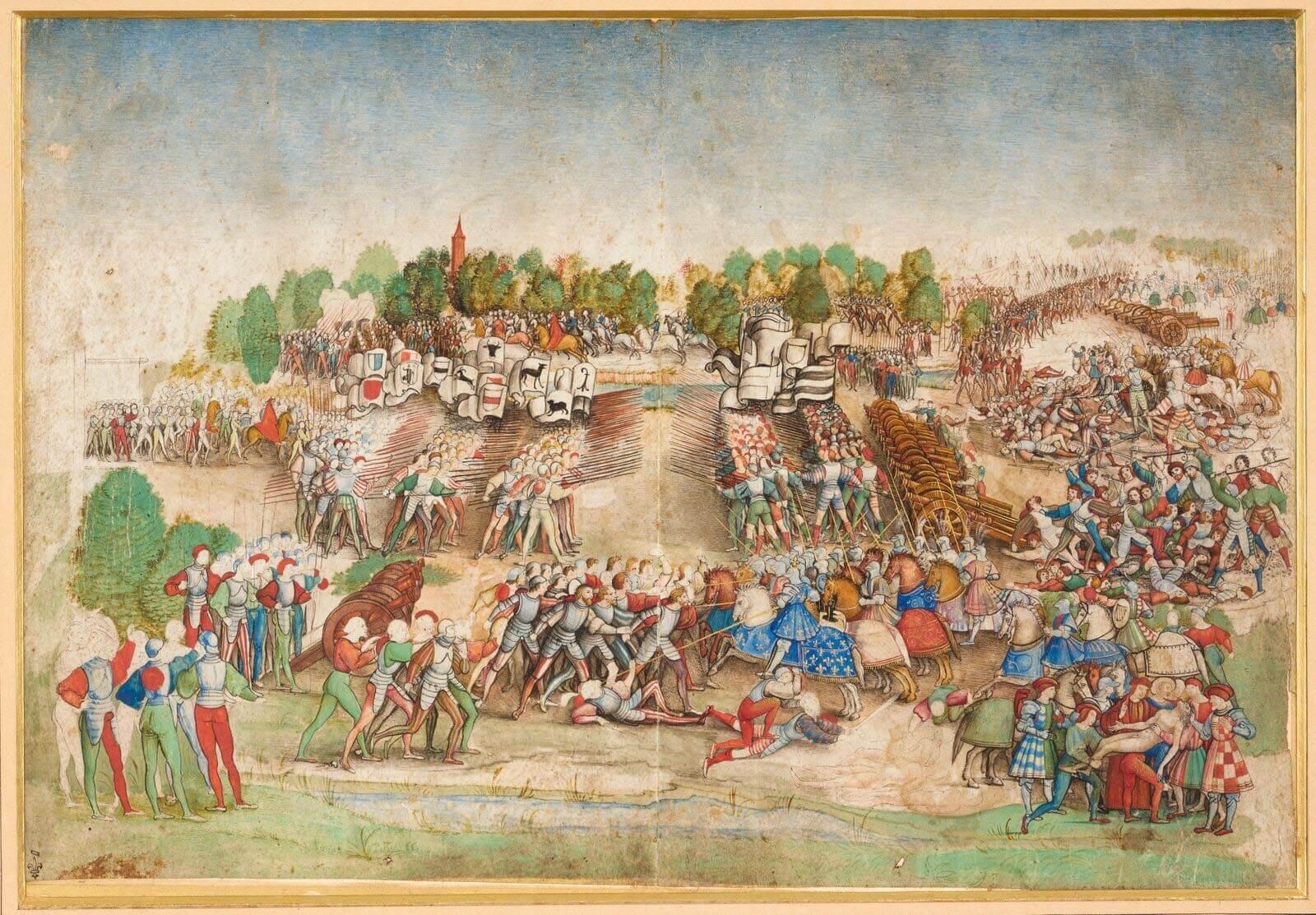 La batalla de Marignano choque de picas