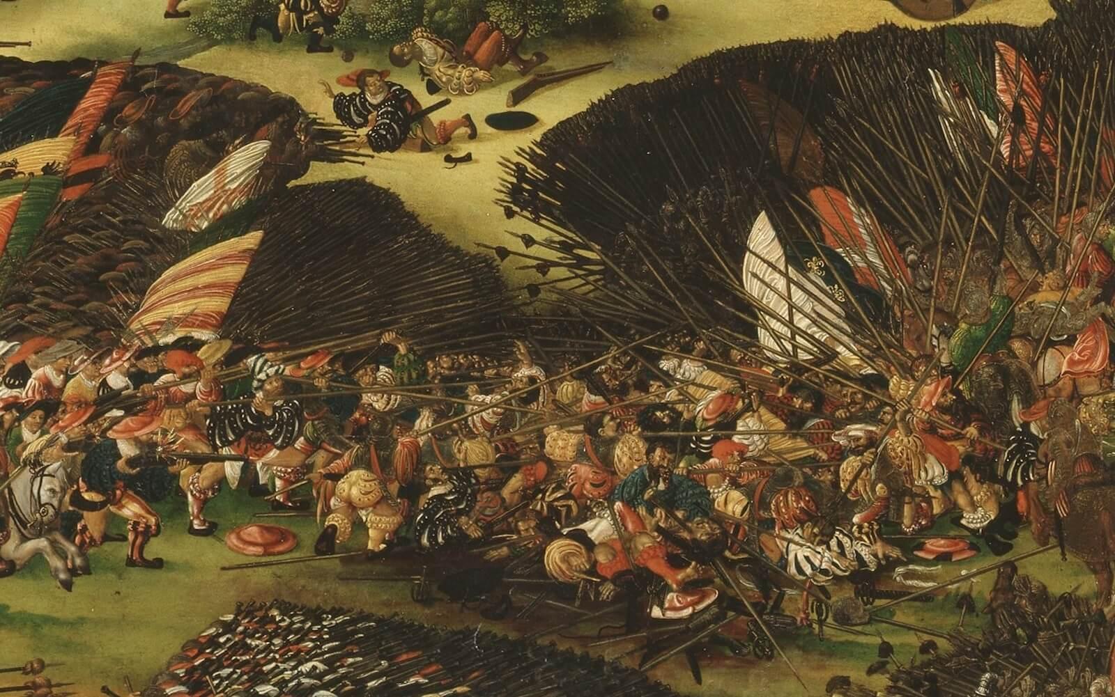 El choque de picas y la mala guerra en la batalla de Pavía
