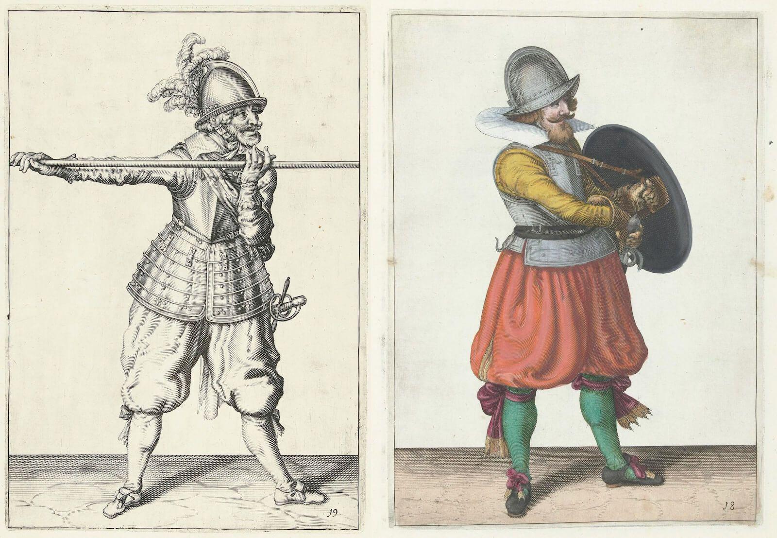 tácticas de infantería siglo XVI piquero rodelero