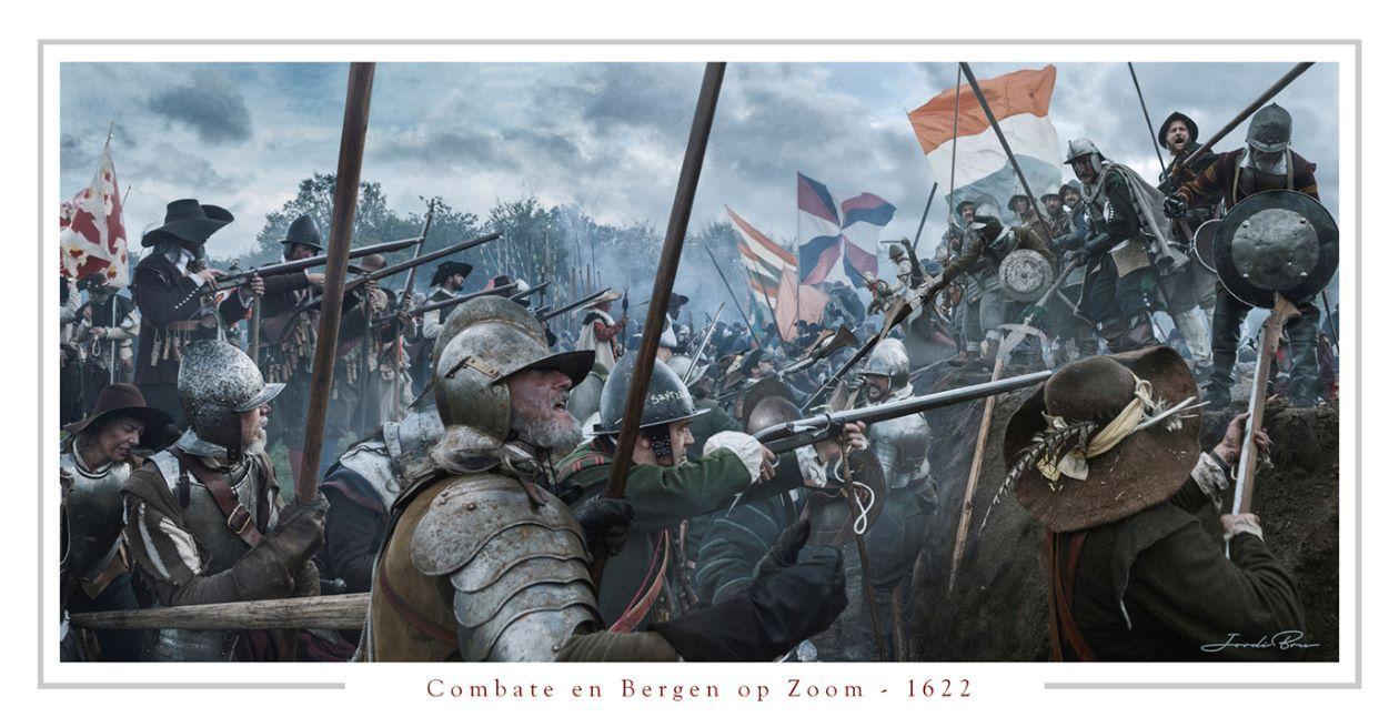Combate en Bergen op Zoom. Lámina de Jordi Bru