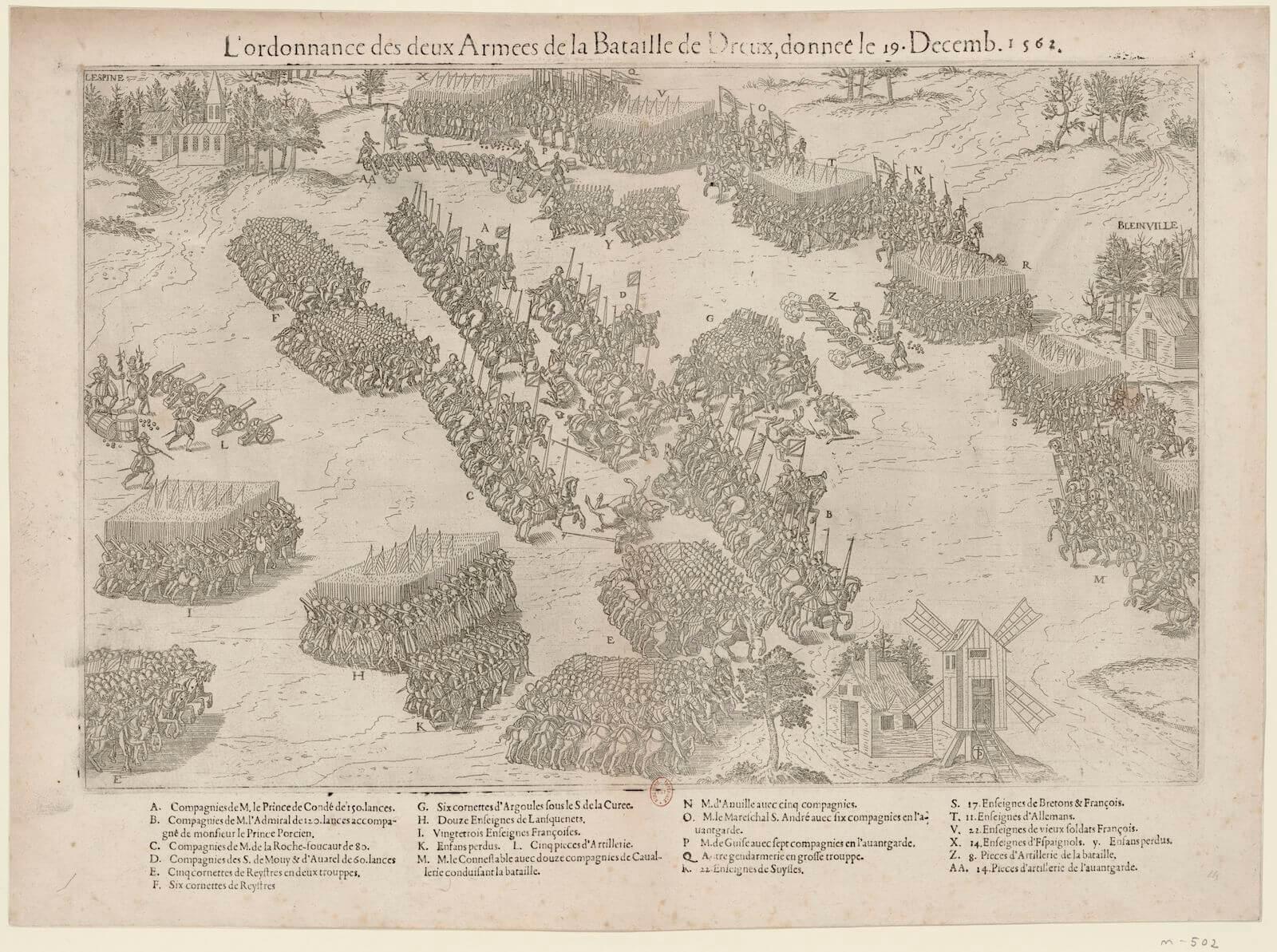 Tácticas de infantería en el siglo XVI batalla de Dreux