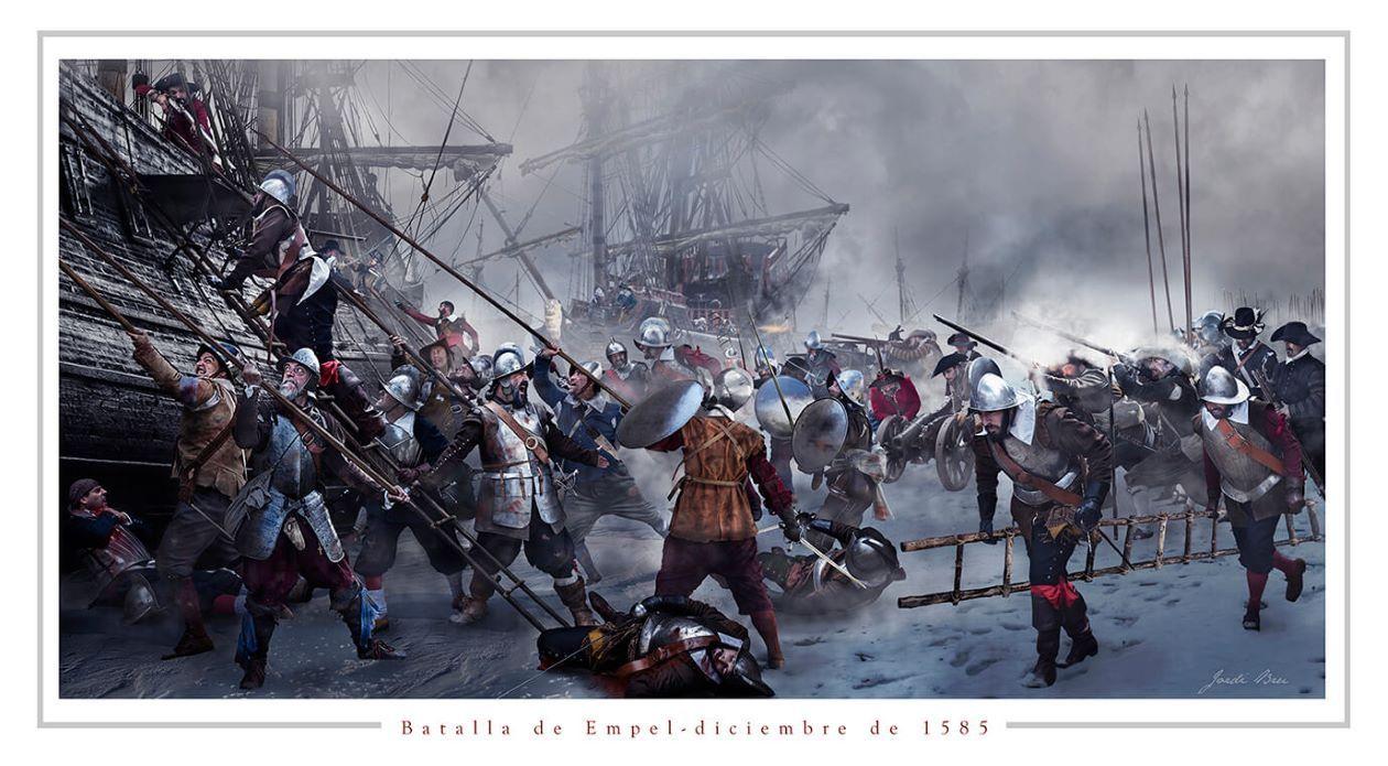 batalla de Empel lámina Jordi Bru