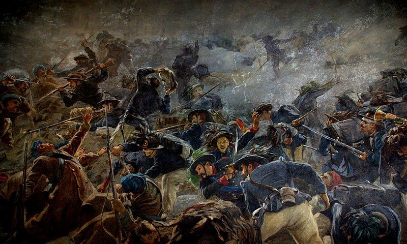 carga a la bayoneta de los Bersaglieri batalla de Chernaya Guerra de Crimea Sebastopol