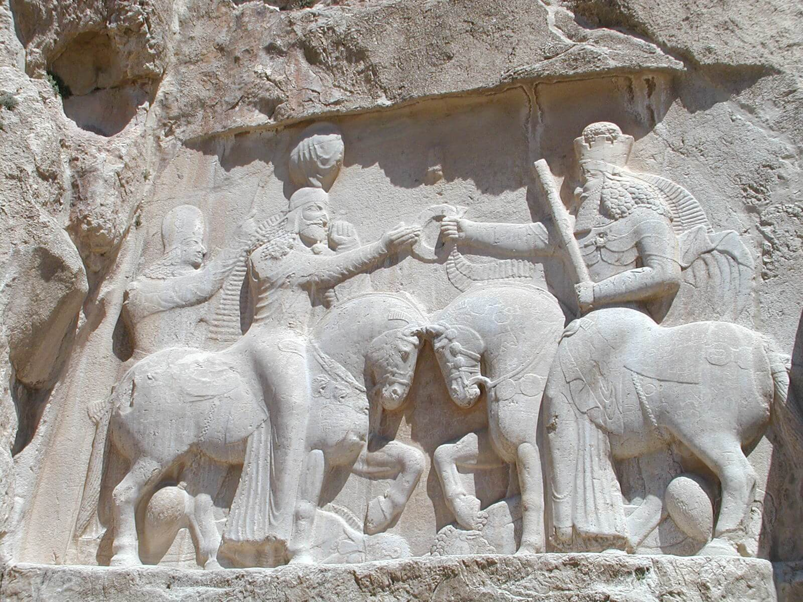 Persia sasánida Sapor I Ahura Mazda Naqsh-e Rustam Iran