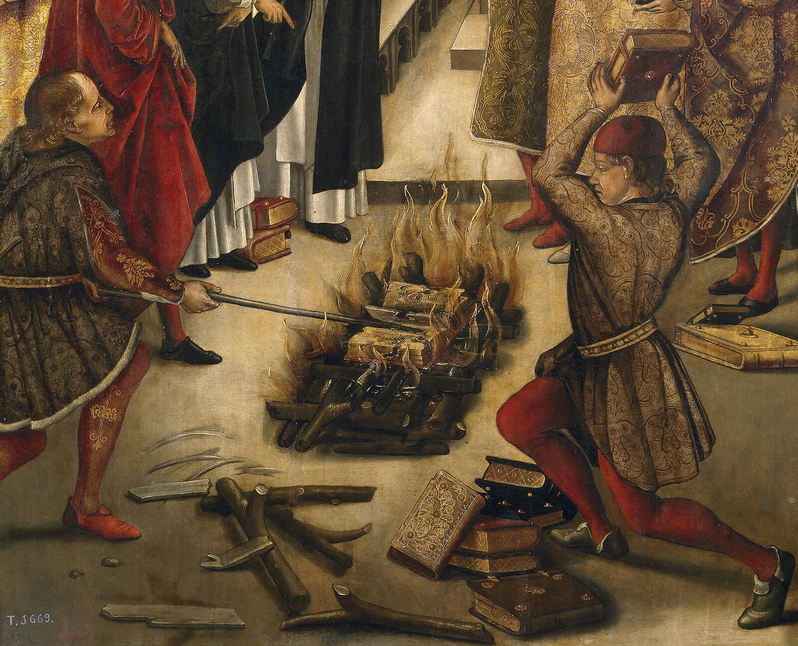 quema de libros Enrique de Villena Lope de Barrientos obispo Cuenca Berruguete