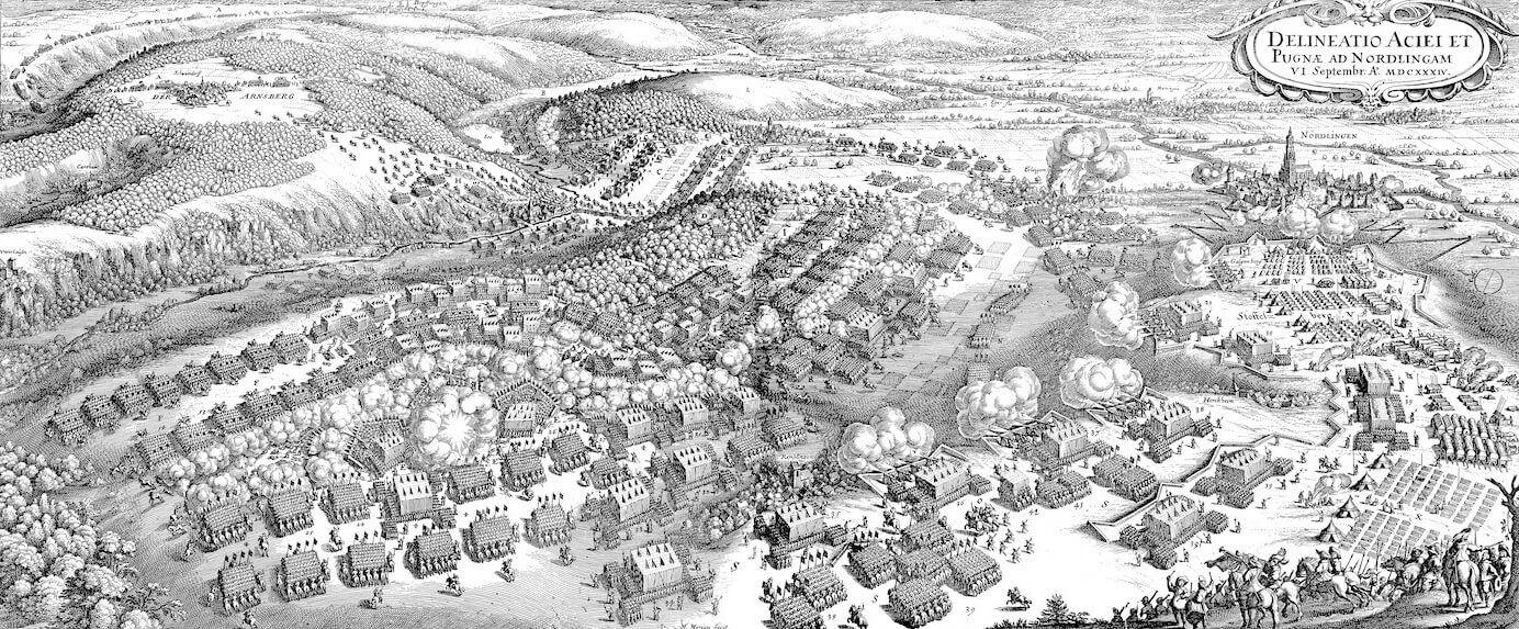 La batalla de Nördlingen, vista desde la colina de Albuch
