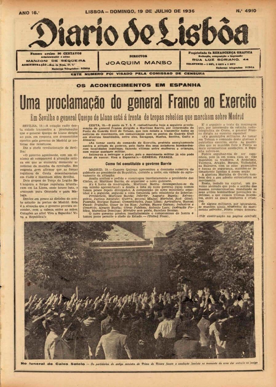 participación portuguesa en la Guerra Civil española