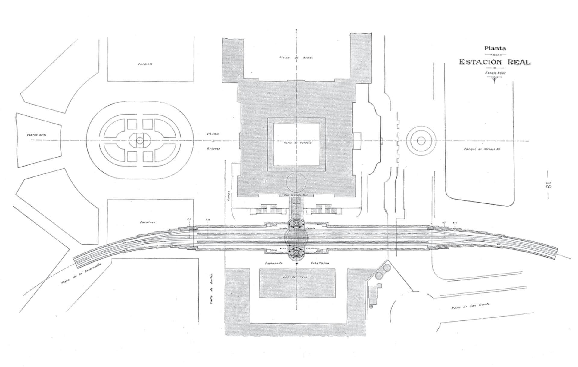 Estación Real Madrid plano