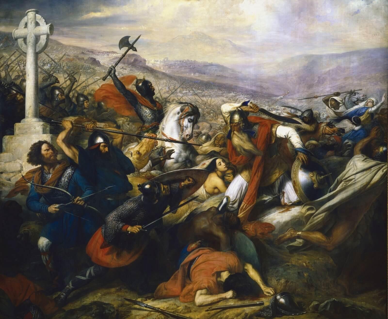 batalla de Poitiers 732 733