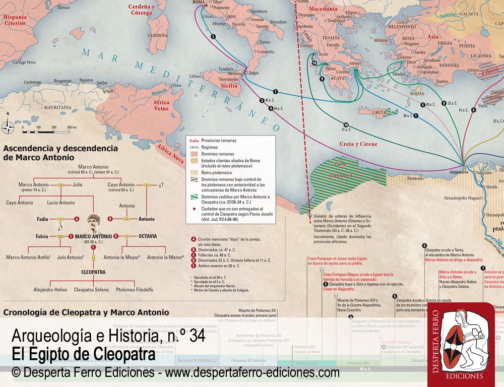 Entre Roma y Oriente. Cleopatra en la tormenta perfecta por Duane W. Roller (Ohio State University)