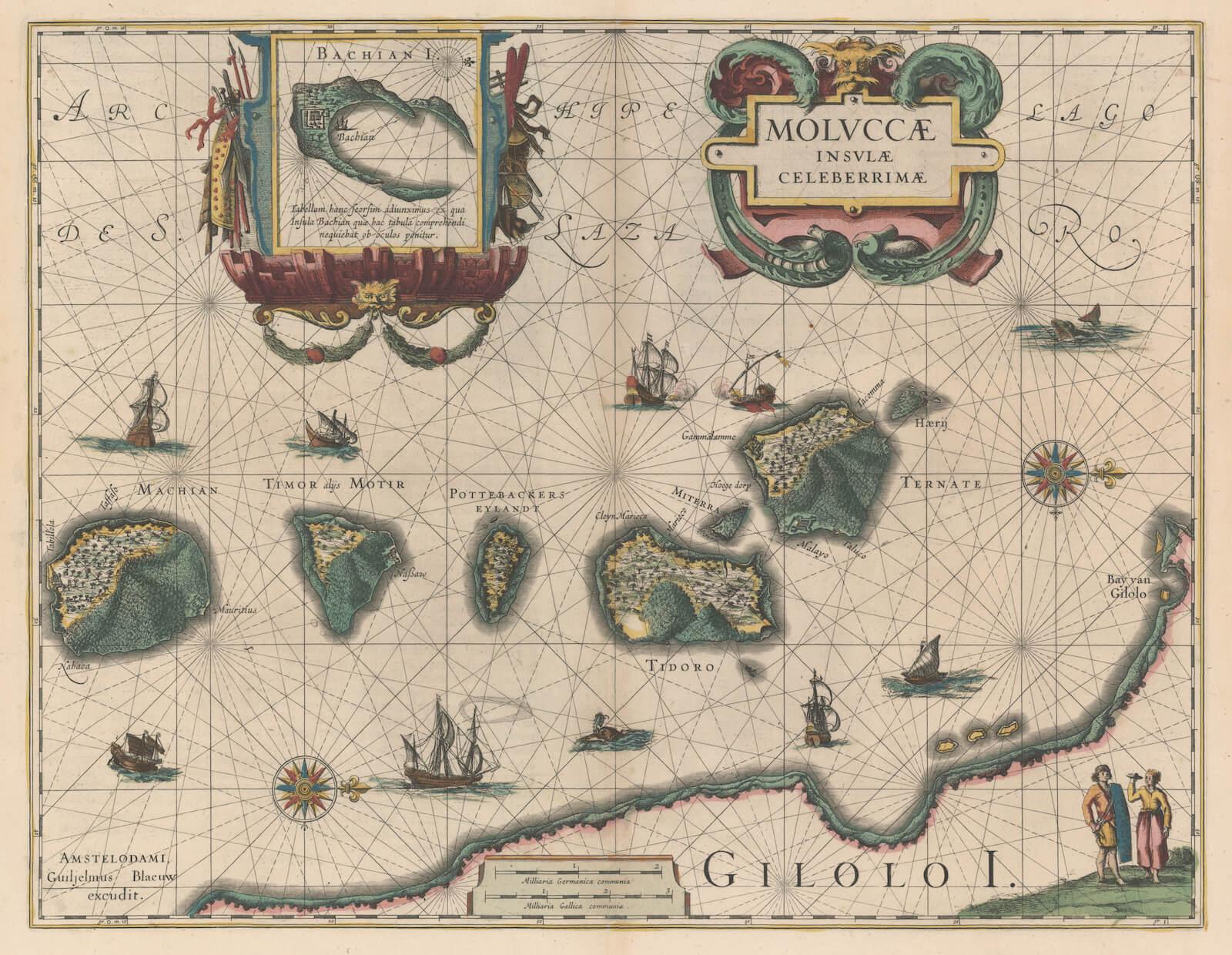 Mapa de las islas Molucas contenido en el Atlas Novus