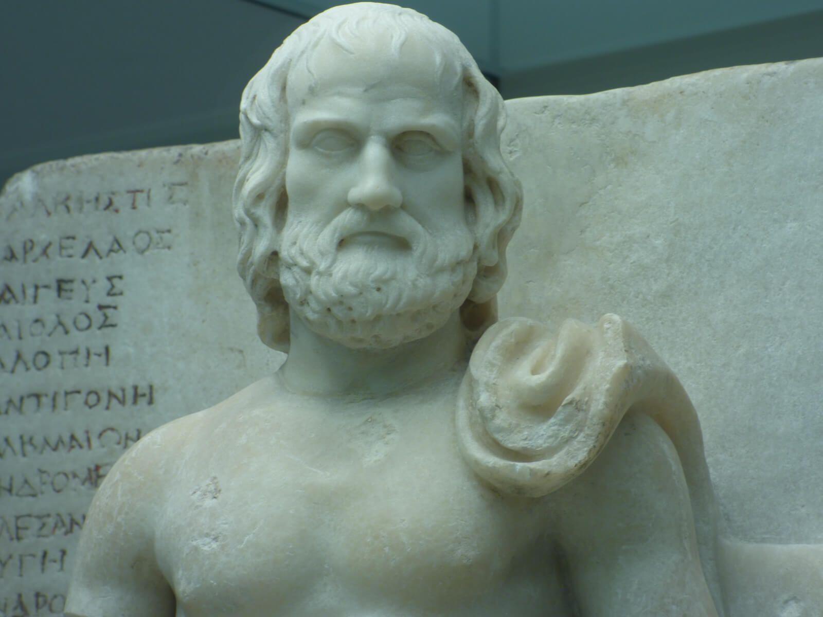 Estatua de Eurípides Louvre